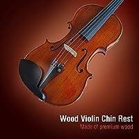 バイオリンあご当て エボニーウッド製 チンレスト 標準ブラケット付き 4/4サイズのバイオリン用