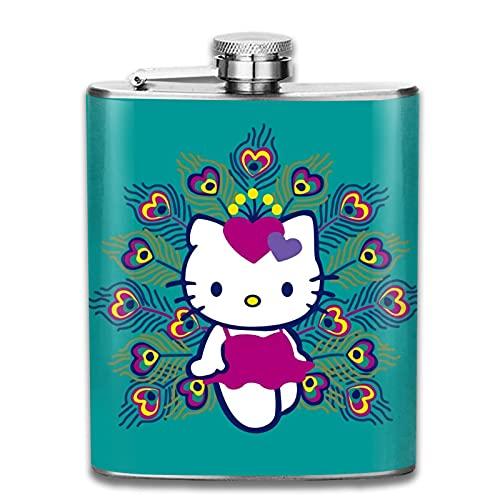 Hello Kitty - Botella de vino de acero inoxidable para regalo de botella de vino de una sola pared, tapa superior en forma de U, preservación del calor