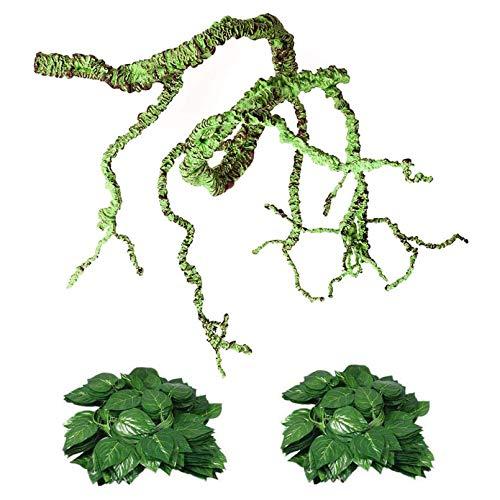 Flexible Bend-A-Branch Jungle Vines Plastic Terrarium Plant Leaves Pet Habitat Decor for...