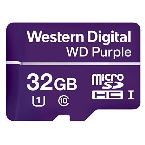 Western Digital WDD032G1P0A WD Purple SC QD312 MicroSDHC Endurance, 100 MB/s Lettura, 60 MB/s Scrittura, UHS Speed Class 1 U1, 32 GB