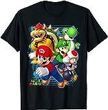 LIJUNQI Camiseta de verano para niños de Super Mario, impresión 3D, informal, gráficos divertidos, 100-160, Mario Bros, Mario 1, extra-large