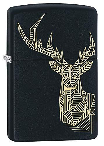 Zippo Stag Design Feuerzeug, Black Matte, One Size