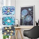 5D-Diamant-Malerei zum Selbermachen, speziell geformte Diamant-Stickerei, Löwenzahn-Blume,...