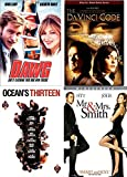 Packed Action Comedy Thrilling DVD Brad Pitt Movie Collection: Oceans Thirteen & Mr. & Mrs. Smith+ Dawg & The Da Vinci Code Tom Hanks