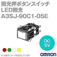 オムロン(OMRON) A3SJ-90C1-05ER 形A3S 照光押ボタンスイッチ (角胴形) (LED照光) (赤) NN