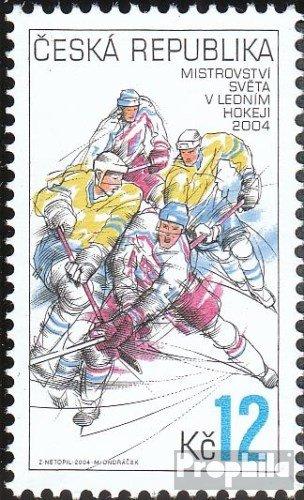 Prophila Collection Tschechien 392 (kompl.Ausg.) 2004 Eishockey (Briefmarken für Sammler) Wintersport
