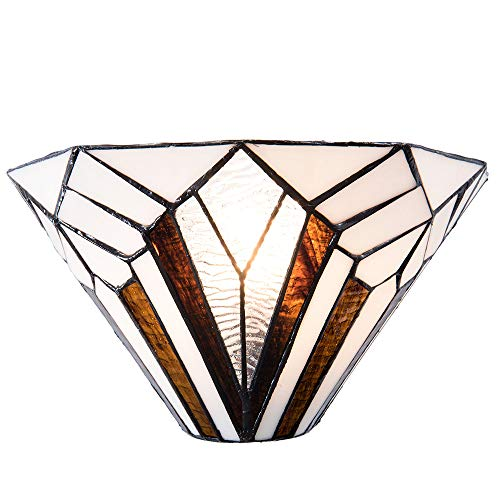 Lumilamp 5LL-5898 - Lámpara de pared (31 x 16 x 16 cm, casquillo E14, máx. 1 bombilla de 40 W), diseño de Tiffany