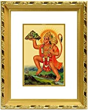 Diviniti 24ct. Gold Plated Hanuman with Mountain Photo Frame (DG-S2) (15.5X13.5 CM)