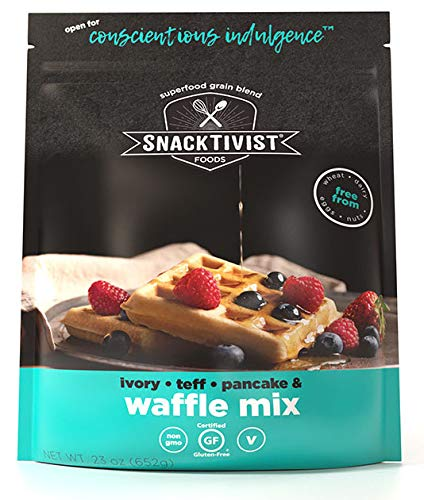 Snacktivist Foods Waffle and Pancake Mix, Gluten-Free, Non-GMO, Egg-Free, Dairy-Free, 23 Ounce