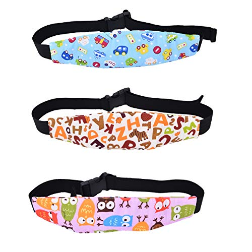 JZK 3 Piezas cinturón Seguridad Coche para bebés niños Asiento arnés cinturón Soporte Cabeza cinturón Seguridad
