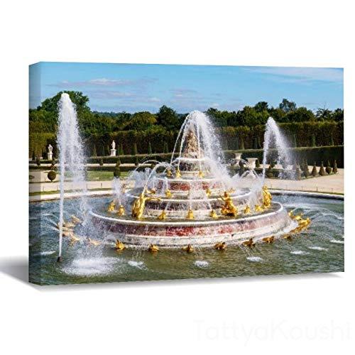 Leinwanddruck, ungerahmt, Motiv: Der Latona-Brunnen in den Gärten von Versailles, gerahmter Kunstdruck auf Leinwand, Wanddekoration für Wohnzimmer, Schlafzimmer, 40 x 60 cm