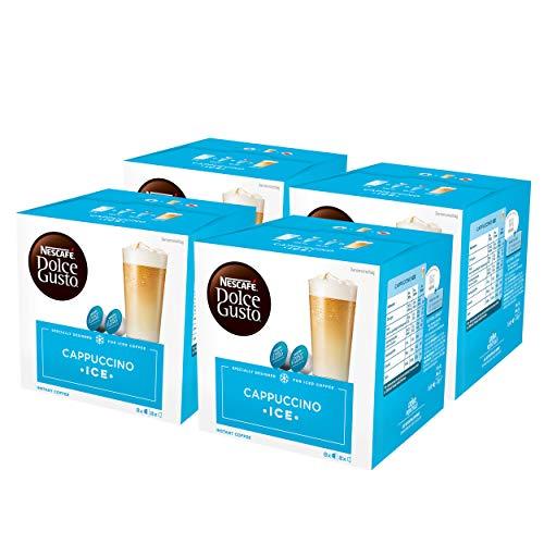 Nescafé Dolce Gusto Cappuccino Ice, Kaffee, Eiskaffee, Kaffeekapsel, 4er Pack, 4 x 16 Kapseln (32 Portionen)