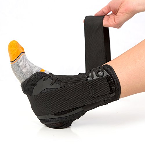 #1 Laced Ankle Brace with Stabilizing Strap for Flexible...