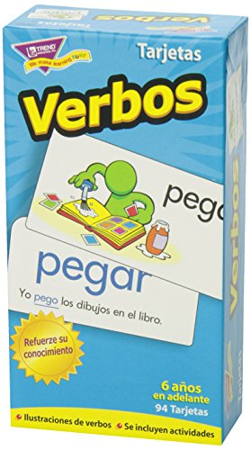 TREND ENTERPRISES, INC. Verbos (Spanish Action Words) Skill Drill Flash Cards - Set of 94 Cards