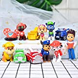 12PCS Paw Patrol Cake Topper, Cup Cake Topper, Children Mini Toys and Shower Birthday Party Supplies