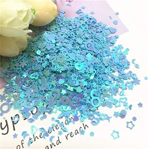 Mix Star - Lentejuelas sueltas con forma de corazón de ciruela, 1 – 5 mm, multicolor