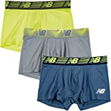 New Balance Men's 3' Boxer Brief No Fly, with Pouch, 3-Pack,Hi Lite/Steel/Vintage Indigo, Medium (32'-34')