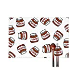 Doinh Nutella - Set di 4 tovagliette all'Americana, Resistenti alle Alte Temperature, Antiscivolo, Lavabili, isolanti, in Cartone e Tela