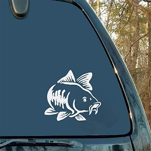 15x13.5Cm auto vrachtwagen boot auto sticker art sticker karper vissen kajak vissen zwart schattig en interessant voor auto laptop raam sticker