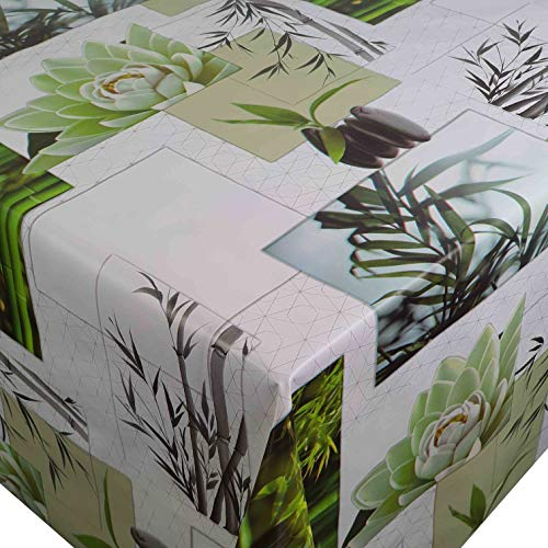 DecoHomeTextil Wachstuch Wachstischdecke Tischdecke Bambou Zen Breite und Länge wählbar abwaschbar 140 x 400 cm Gartentischdecke abwaschbar