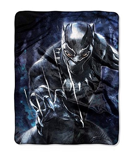 Marvel Black Panther Plush Throw Bl…