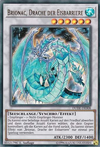 Konami TCG - Brionac, Drache der Eisbarriere - DUDE-DE008 - Ultra Rare - Yu-Gi-Oh! - mit GECO® Versandschutz