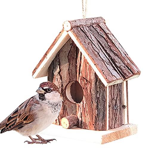 Caja de nido de pájaros Casa de pájaros para jardín Casas de pájaros Rspb Caja de pájaros Caja de pájaros Robin Placas de protección Casas de pájaros Caja de nidos Placa para pájaros pequeños Caja