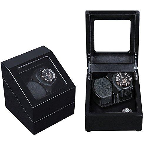 ANDE Automatisch Uhren Wickler Mini Pu Leder Anzeigen Box Sehen Drehung Klavier Farbe Speicher Box