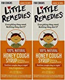 Little Remedies Honey Cough Syrup | 100% Natural | Ages 12 Months+ | 4 FL OZ | Pack of 2