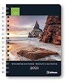 GEO Wochenkalender - Buchkalender Deluxe 2021 - Kalenderbuch A5 - Taschenkalender - teNeues-Verlag - Taschenplaner mit Spiralbindung - 17 cm x 22 cm - Kunstkalender
