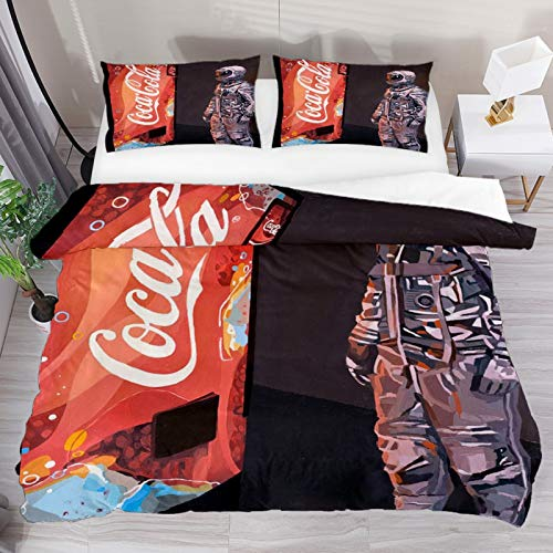 Set copripiumino King Vintage Coca Cola 3 pezzi copripiumino copripiumino copripiumino copripiumino 1 federe 1 copripiumino