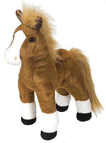 Lashuma Cuddlekins Plüschtier Braunes Pferd, Kuscheltier 30 cm