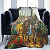 SENTANF Wizard of Oz Ultra-Soft Micro Fleece Blanket Throw Fuzzy Lightweight Blankets for Kids Boys Girls Adults Fashion Blanket Holiday Winter Cabin Warm Blankets Perfect for Couch, Sofa, Bed