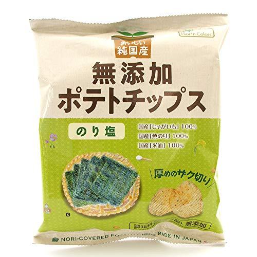 ポテトチップス ノースカラーズ 純国産 無添加ポテトチップス のり塩 55g 12袋