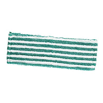 "Libman Commercial 119 Microfiber Wet/Dry Floor Mop Refill Pad, Microfiber, 18"" Wide, Green and White (Pack of 6)"