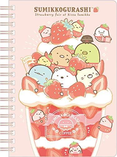 San X Sumikko Guarshi Spiral Notebook Strawberry NY26101 product image