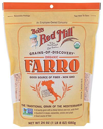 BOBS RED MILL Organic Whole Grain Farro, 24 OZ