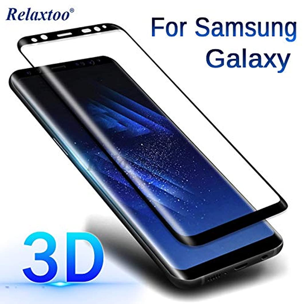 3D Curved Case for Samsung Galaxy S8 Tempered Glass for Samsung S9 S8 Plus Note 9 8 S7 S6 Edge sansung sumsung Galax note9 Film (Black - for Galaxy Note 9)