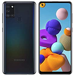 """Image of Samsung Galaxy A21S (64GB, 4GB) 6.5"""", Quad Camera, All Day Battery Dual SIM GSM Unlocked Global 4G LTE VoLTE (T-Mobile, AT&T, Metro, Straight Talk) International Model A217M/DS (64GB SD Bundle, Black): Bestviewsreviews"""