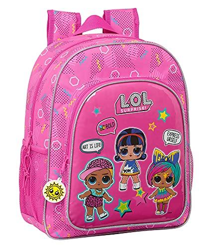safta Mochila Escolar Junior de Lol Surprise! Art Club, 320x120x380 mm