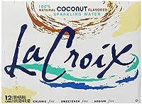 La Croix スパークリングウォーター、ココナッツ、12オンス缶(12パック)