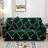 Fundas elásticas con Rayas Cruzadas Funda de sofá Antipolvo Totalmente Envolvente elástica para Sala de Estar Funda de sofá Funda de sillón A18 2 plazas