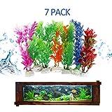 VORCOOL 7pcs Aquarium Kunststoff Pflanzen Dekoration 7,9 Zoll