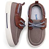 tombik Toddler Shoes Boys Canvas Sneakers Kids Loafers for Walking Fall Brown 11 US Little Kid