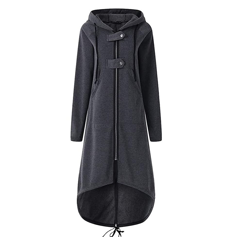 Hemlock Women Plus Size Cardigan Jacket Long Hooded Coats Zipper Pullover Sweater Tunic Dinner Blazer Coat Tops
