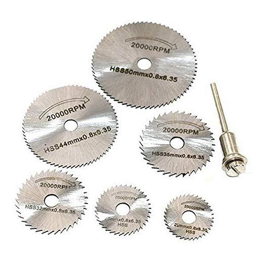 Hoja sierra pequeña acero alta velocidad, juego 7 piezas, hoja sierra circular,...