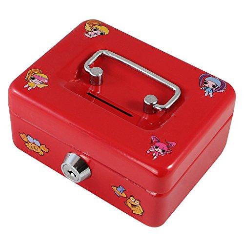 Geldkassette / Kinderkassette mit Motiven, rot