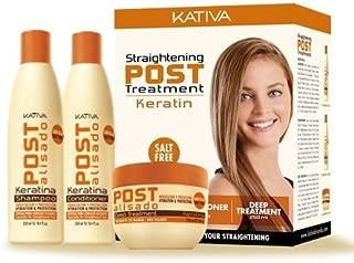 Kativa Tech Kativa Post Relaxer Kit X 3 Pack (Shampoo + Conditioner X 250 Ml 250 Ml + X X 250 Deep Treatment by KATIVA
