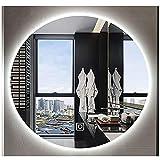 Bathroom Mirror Espejo De Baño Redondo Retroiluminado, Espejo De Vanidad con Luz LED con Luz, Montado En La Pared, Espejo De...