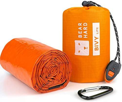 Bearhard Emergency Sleeping Bag Emergency Blanket Bivy Sack Ultralight Waterproof Thermal Survival product image